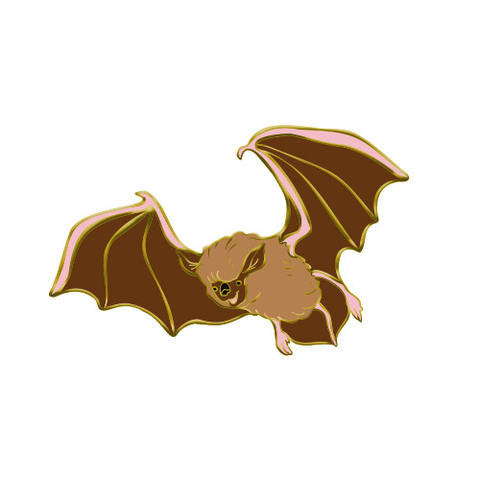 Big Brown Bat Enamel Pin - PRE-ORDER