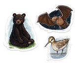 Crystal Driedger x AIWC Wildlife Stickers