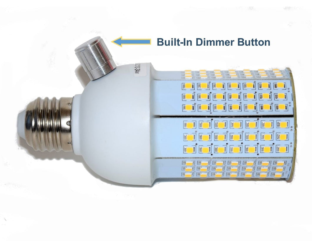 Model CL1224-0 - 12-24 Volt DC LED Corn Light - With Dimmer Button