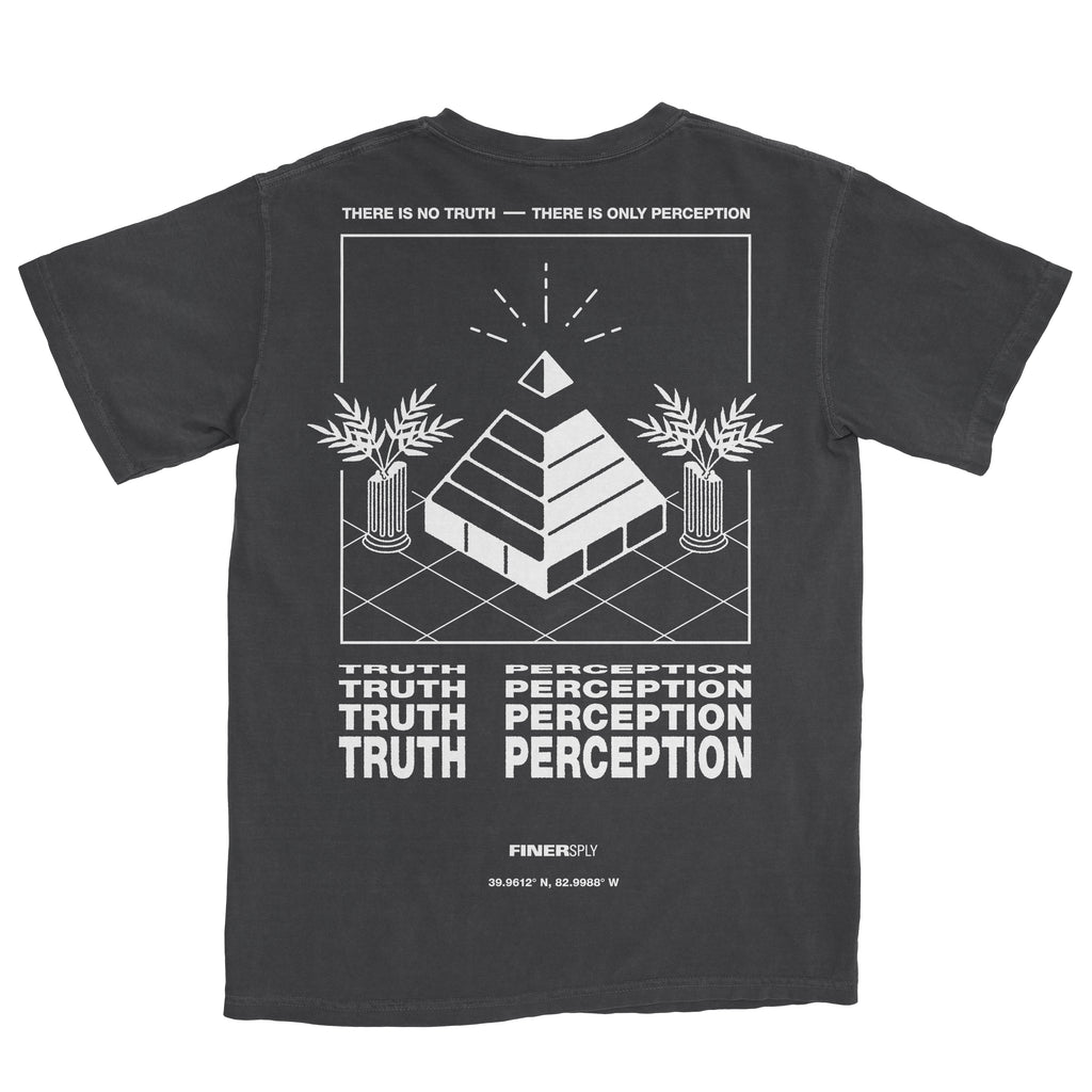Washed Black Finer Supply No Truth Tee Back Print