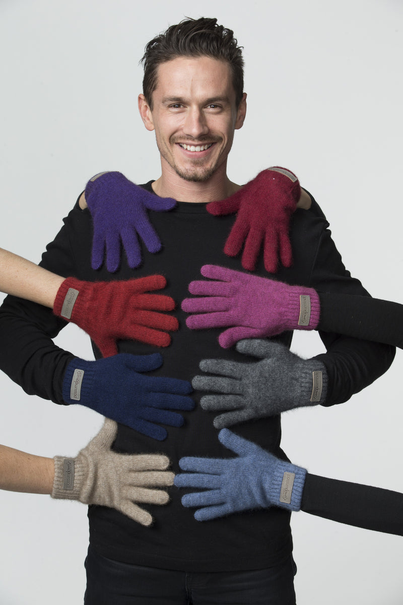 Possumdown Gloves with leather patch