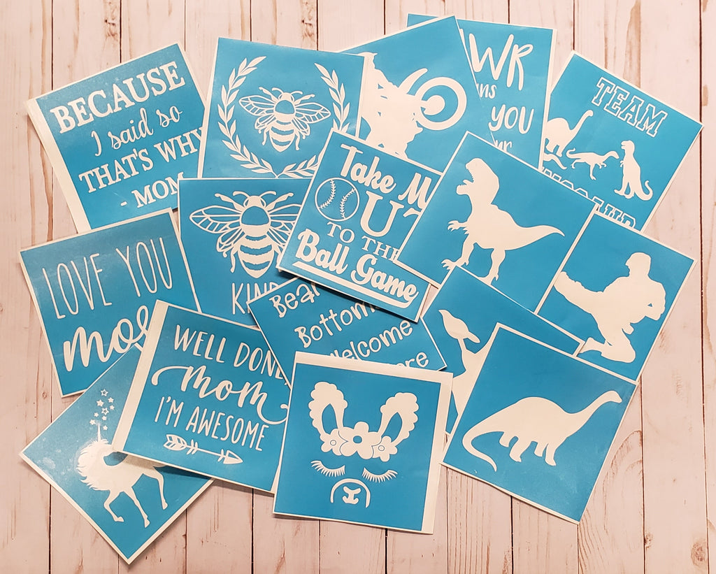 Kit Small Signs 6x6 Wood Stencil Paint Supplies Rusty Cottage