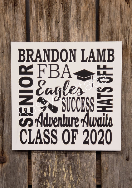 Senior Personalized Graduation Sign Kit or Completed
