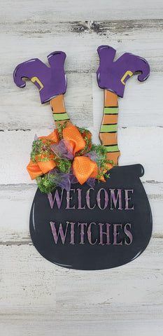 Welcome Witches Door Hanger
