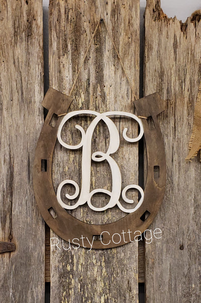 Monogram Horseshoe