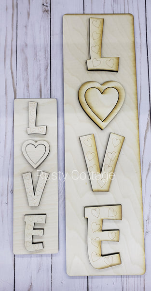 LOVE 3D Mini Leaner Sign Kit