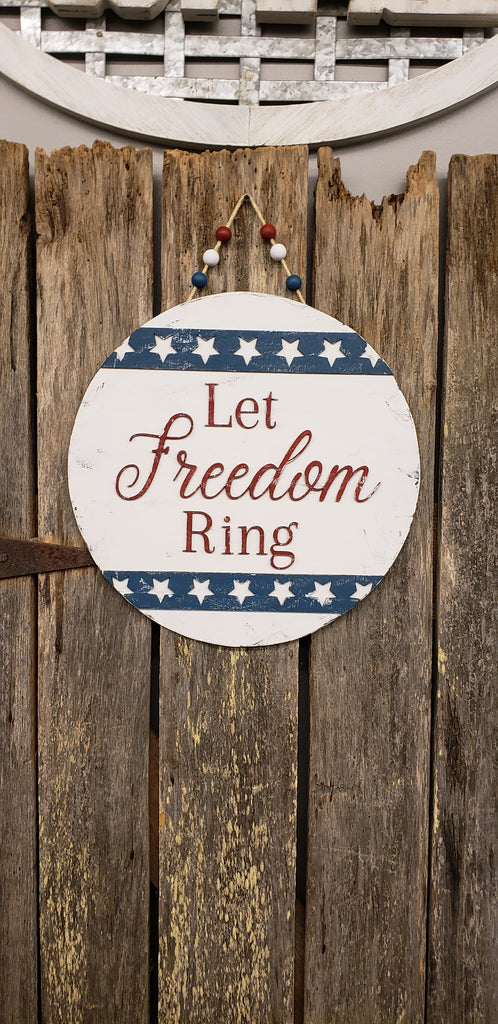 Let Freedom Ring 3D Door Hanger