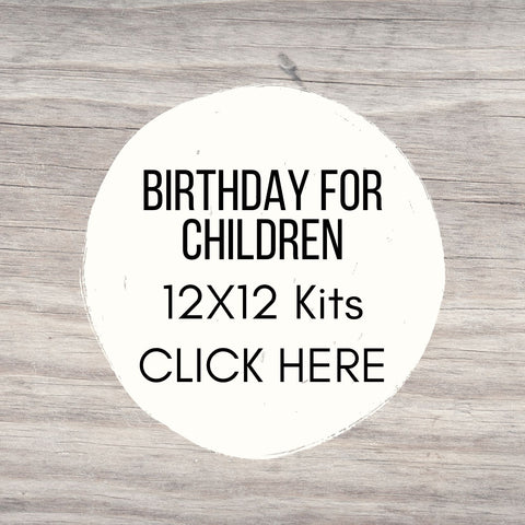 Birthday Party 12x12 Sign Kits for Youth/Teen
