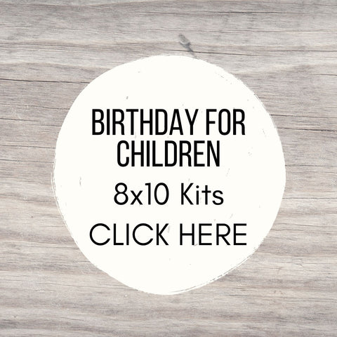 Birthday Party 8x10 Sign Kits for Youth/Teen