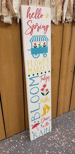 Porch Sign Stencil Only 10x48