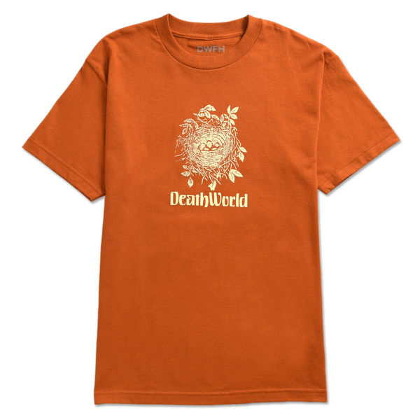 DEATHWORLD BIRD NEST S/S TEE ORANGE - By Earl Sweatshirt