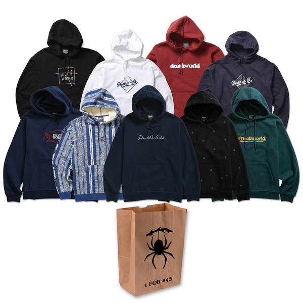 Death World Grab Bag for 1 randomly selected hoodie for $45