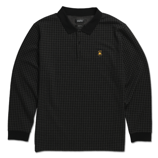 DEATHWORLD GRID RUGBY - By Rapper Earl Sweatshirt's clothing brand Deathworld