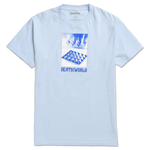 DEATHWORLD PYRAMIDS S/S TEE WHITE by rapper Earl Sweatshirt's clothing brand Deathworld Feral Hands