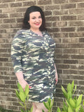The Eve Camo Shirtdress