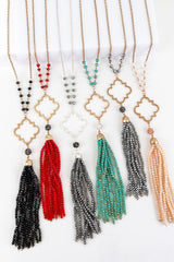 Harem Beaded Tassel Necklace