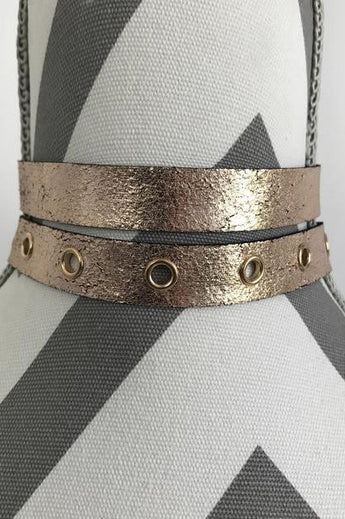 Rose Gold Vegan Leather Choker