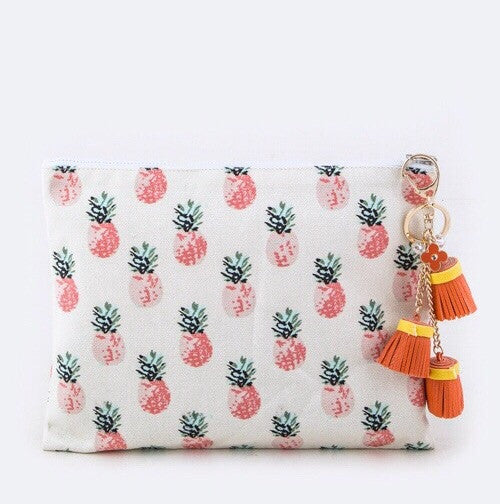 Pretty Pineapples Zipper Bag