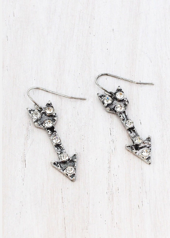 Burnished Arrow Earrings