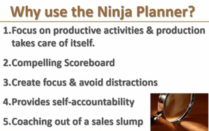 Why use the Ninja Planner?