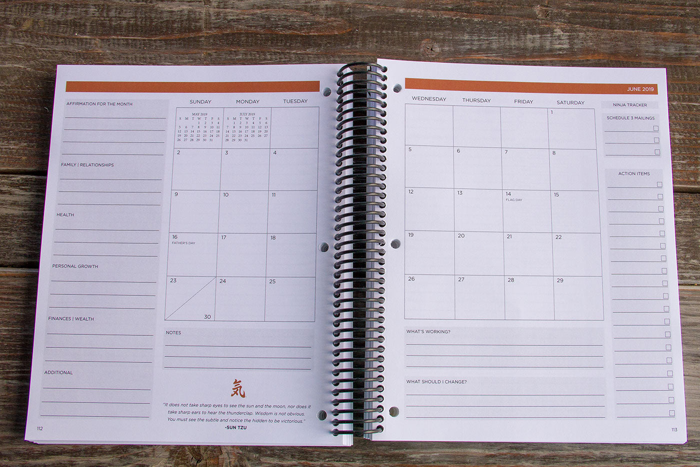 Ninja Planner: Daily Actions  Big Results