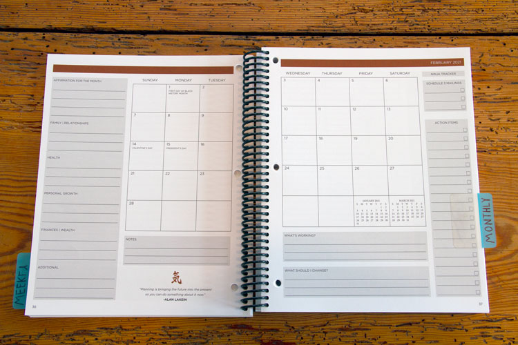 Ninja Planner: Daily Actions. Big Results.