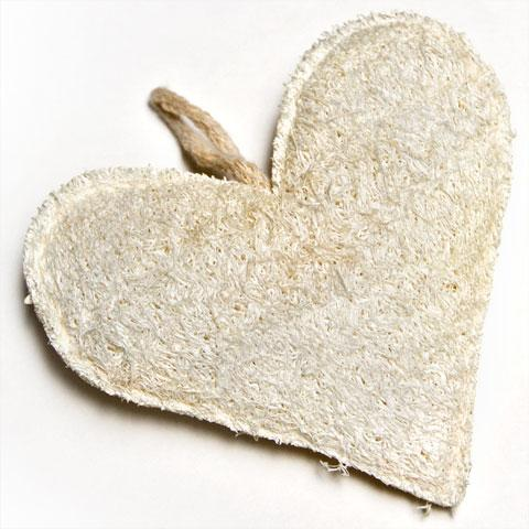 HEART SHAPE LOOFAH