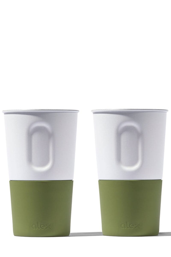 16oz Bottle Opener Cup - 2 Pack - White and