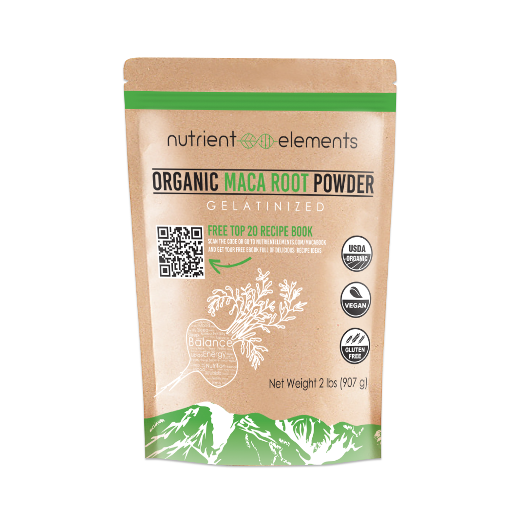 Organic Maca Powder - Raw & Certified USDA Organic - Gelatinized 2 lbs / 32 oz - Resealable Pack