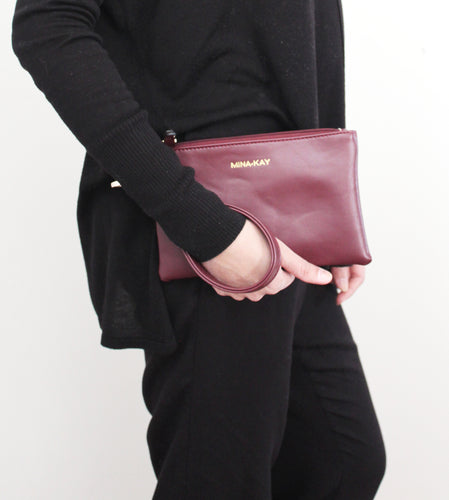 Mini Clutch - Maroon