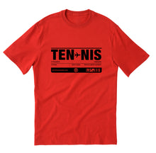 TENNIS unisex short sleeve t-shirt