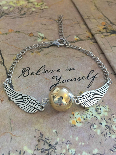 Silver Golden Snitch Bracelet