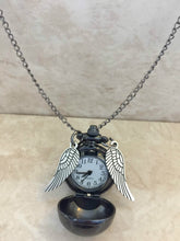 Harry Potter Golden Snitch Black Necklace with SECRET Watch