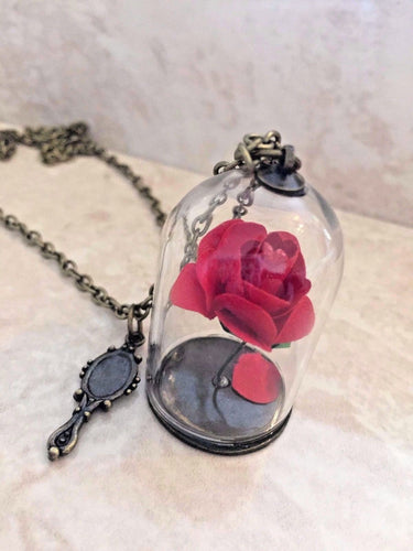Beauty and the Beast Rose Necklace (Large)