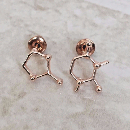 Caffeine Molecule Earrings