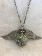 Harry Potter Patterned Golden Snitch Necklace with SECRET Watch