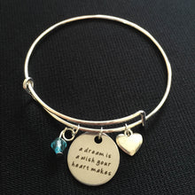 A Dream is a Wish Your Heart Makes - Cinderella Inspired Bangle