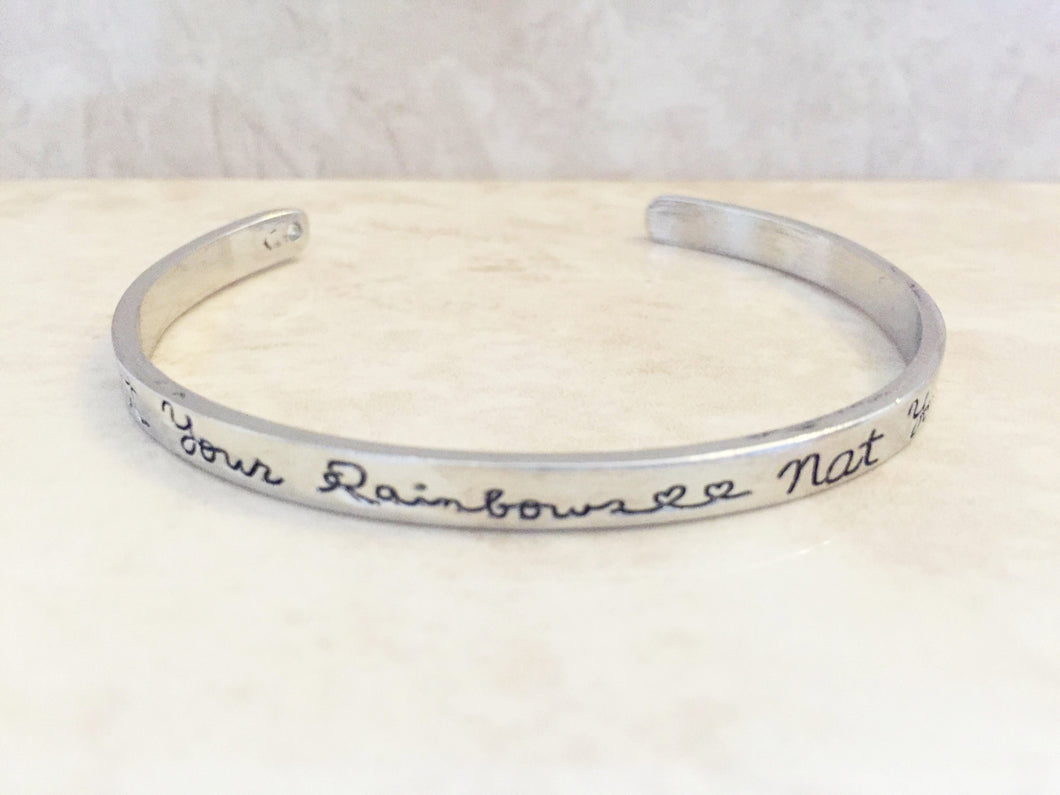 Count Your Rainbows, Not Your Thunderstorms Bangle