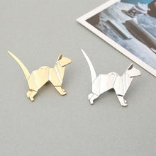 Origami Cat Animal Pin/Brooch