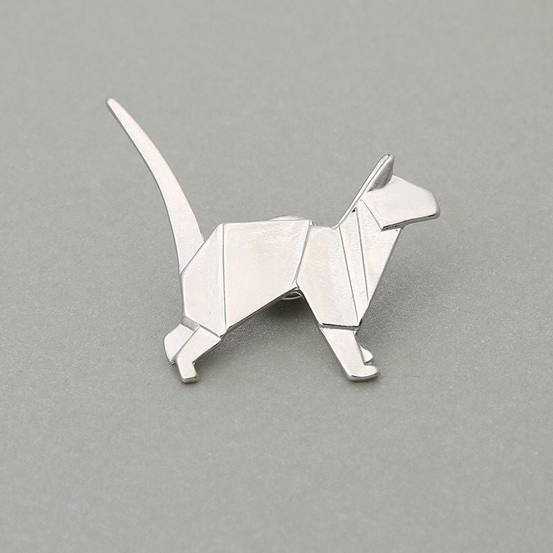Origami Animal Pin Brooch