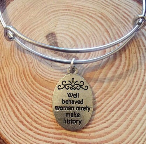Well Behaved Women - Handmade Adjustable Bangle