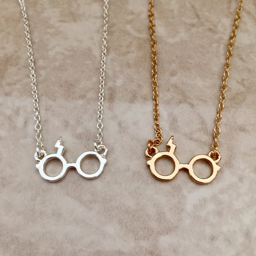 Harry Potter Inspired Scar & Glasses Necklace