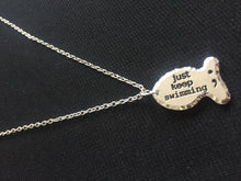 Just Keep Swimming Semi-Colon Necklace