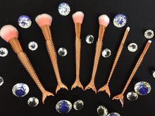 Mermaid Tail Brushes Rose Gold Set