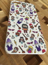 Harry Potter Cute Characters Phone case for iPhone 5/5S. Lovely cartoon illustrated design. The perfect gift for any Harry Potter fan.