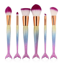 Mermaid Tail Brushes Rainbow Set