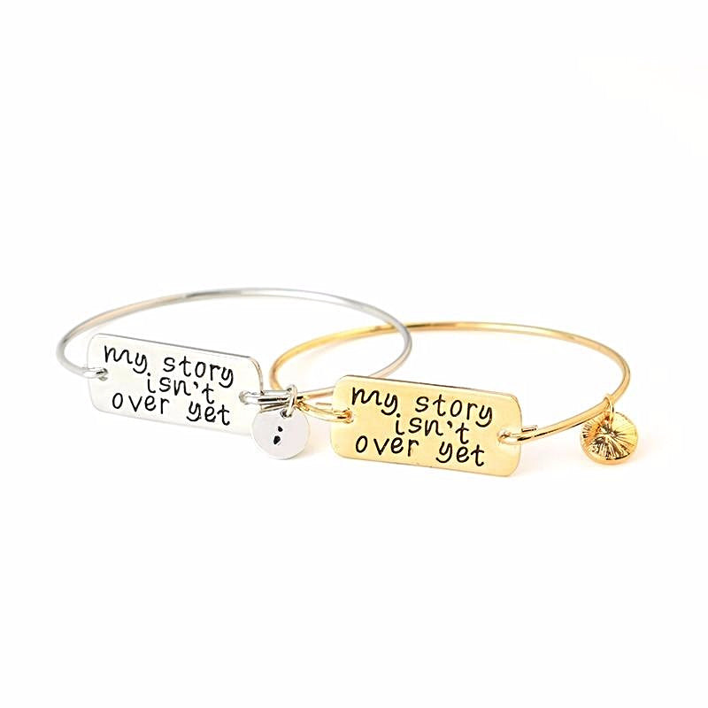 My Story Isn't Over Yet Semicolon - Bangle