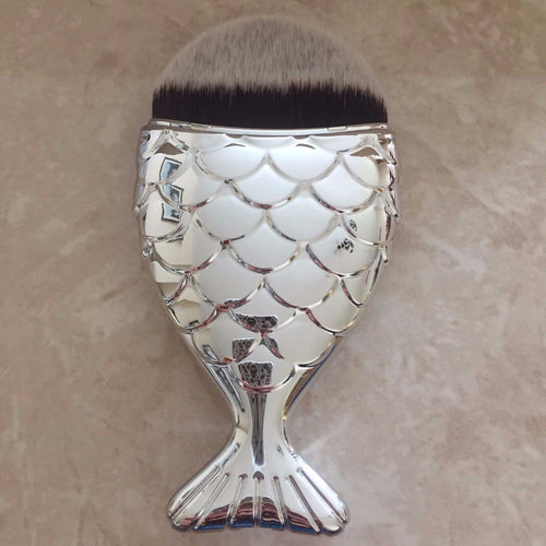 SILVER Chubby Mermaid Brush
