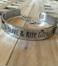 Be Brave and Keep Going Arrow Bangle