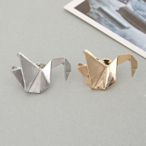 Origami Swan Animal Pin/Brooch
